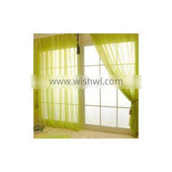 high quality simple clean modern style 150cm width solid polyester organza curtain