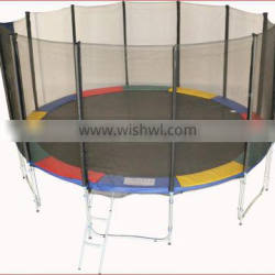 Colorful 14ft trampoline with good quality,CE,GS certificate