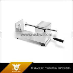 portable stainless steel spiral vegetable slicer by hand