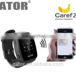 Caref GPS locator tracker watches Double Locate Remote Monitor SOS gps watch ---Caref watch