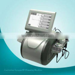 Multipolar radio frequency and 40KHz/1MHz cavitation for slim