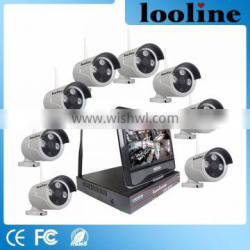 Looline Villas Outdoor Use Alarm System Home Security Built-In Poe Nvr Kit With IP Bullet IR 960P 1.3Mp Camera