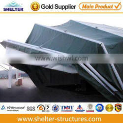 all weather PVC fabric structure aircraft tents for UN army for sale