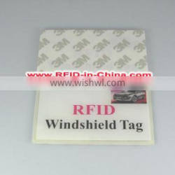 Hot Selling RFID Car Windshield Tag for Large Parking Area