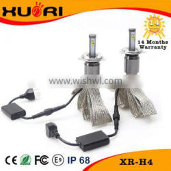 LED Headlight assembly Round headlamp with 40w High/Low beam bulbs for car offroad motorcycle suv H4 for all cars