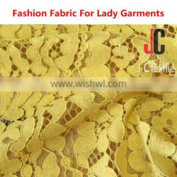 Shxoing JC052 wholesale T/C nylon cotton high quality european yellow lace fabric