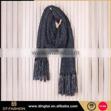 Women long good quality knitted acrylic scarf scarf famous designer knit scarf from china
