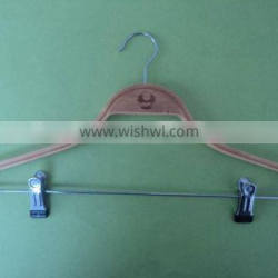 Chinese classic and reusable clothes bamboo hangers sets craft