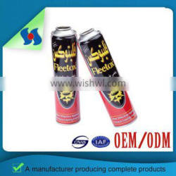 Four Color Cmyk Print Clearly Empty Aerosol Insecticide Tin Can Without Color Difference