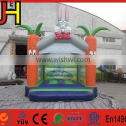 Hot selling kids play rabbit carrot inflatable bouncer