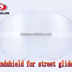 High quality ABS transparent clear windshield for harley touring street glide