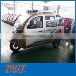 175cc gasoline single engine 3 wheelers with closed cabin three rows seats for tuk tuk taxi