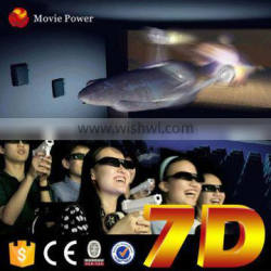 2016 Most Profitable 7d cinema project with interactive gun shooting game