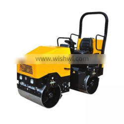 Vibration frequency double drum soil compactor road roller 3ton