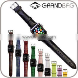 Guangzhou Unisex Genuine Leather wrist Watch Belt Watch band for Iwatch or for Apple Watch Iwatch