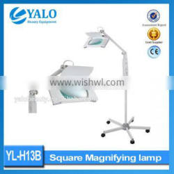Cosmetic HOT!!!Vertical Type LED Magnifying Vertical Lamp With Square Magnifying Lamp Portable