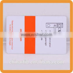 PVC Blank RFID Magnetic Strip Credit Card for E-payment