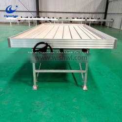 With tray ebb and flow rolling bench for growing greenhouse plant