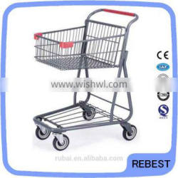 Beautiful design metal shopping trolley cart
