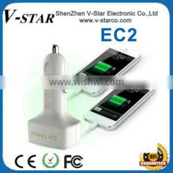 5V 3.1A output Dual USB port car charger for iphone/iPad/Samsung/SAM TAB/Android