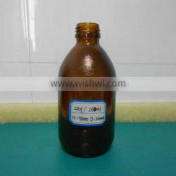 250ml amber glass syrup bottle with embossing