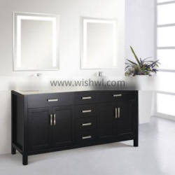 Fashionable Wooden Bathroom Furniture With Double Mirrors