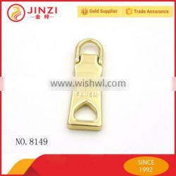 Solid safety metal fix a zipper lock china supplier