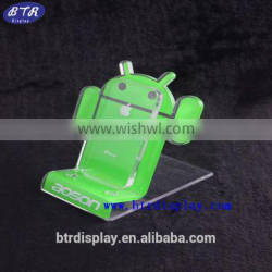 custom plastic acrylic ring holder for android mobile phone