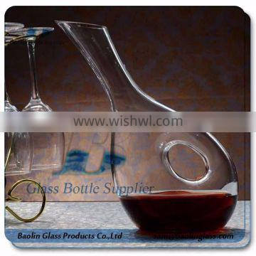 GLASS TILT snail shaped DECANTER
