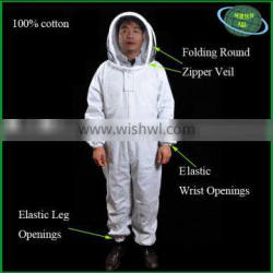 Full body radiation proof suit for beekeepers