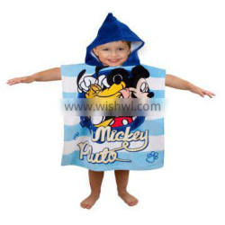 China Top Quality Custom Design Printed Cotton Hooded Bath Towel