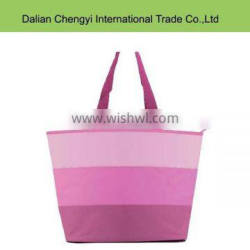2015 Promotional stripe canavs tote leisure mommy bags for baby