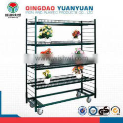 High quality flower display stand, metal shelving shelf, goods shelves