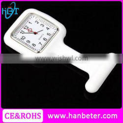 Square watches for rubber strap women nursing clip medical watch