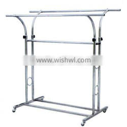 High quality chrome metal clothes display stand HJ-30