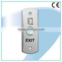 Zinc alloy door exit push button with LED