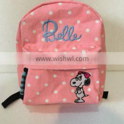 2# personalized sturdy canvas bag with cute logo for children
