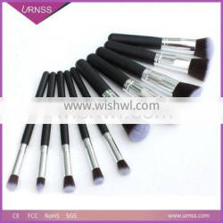 2016 New Pro High Quality private label 10 pcs kabuki make up brush set china makeup brush set