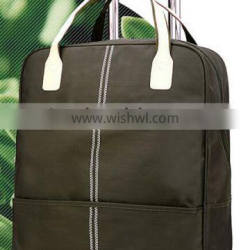 Rolling CARRY ON LUGGAGE Travel DUFFLE BAG green
