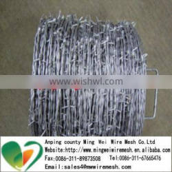 factory low price construction hot dip galvanized barbed wire length per roll