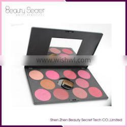 OEM baked blusher palette customized colors