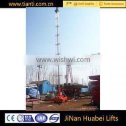 dual ladder telescopic type cylinder electric hydraulic man lifts