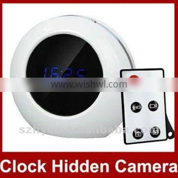 Digital Motion Detectionwall clock camera with remote control