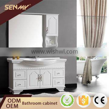 European Design Bathroom Antique Chinese Vanity Cabinet With Elegant Washbasin