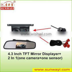 High Quality 4.3Inch Display Reverse Camera Car Rear View Mirror Monitor