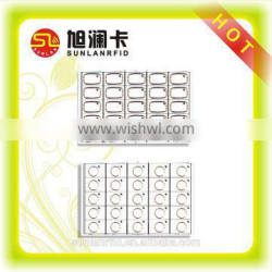 rfid contactless smart card pvc plastic inlay with customized layout