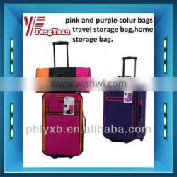 2014China alibaba New product pink and purple colour bags,travel storage bags,home storage bag