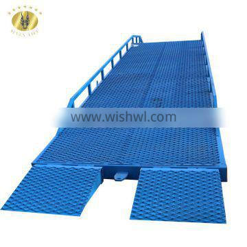 7LYQ Shandong SevenLift 10 ton mobile loading hydraulic car dock ramp