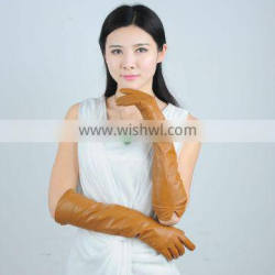 yellow fashion long sleeve gloves for women