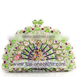 2016 fashion women crystal stone evening bag for wedding party